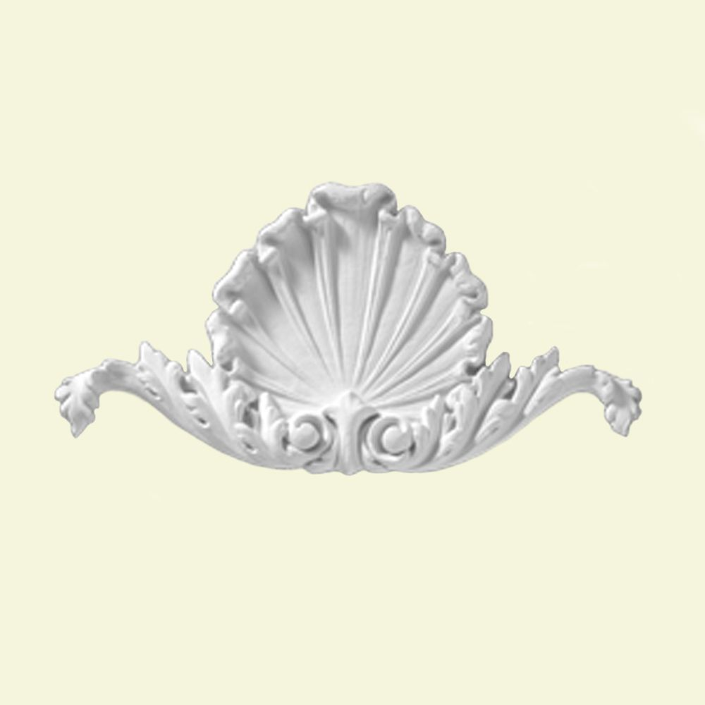 10 1/2-inch x 5 3/8-inch x 5/8-inch Composite Applique Shell Smooth Moulding