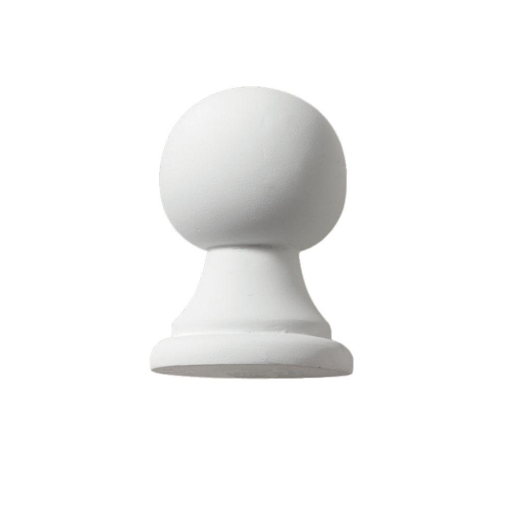 4 5/8-inch x 3 14/47-inch x 3 1/8-inch Primed Polyurethane Post Ball Top Finial