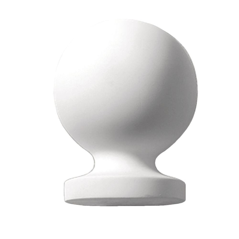 7 13/16-inch x 5 7/8-inch x 5 7/8-inch Primed Polyurethane Post Ball Top Finial