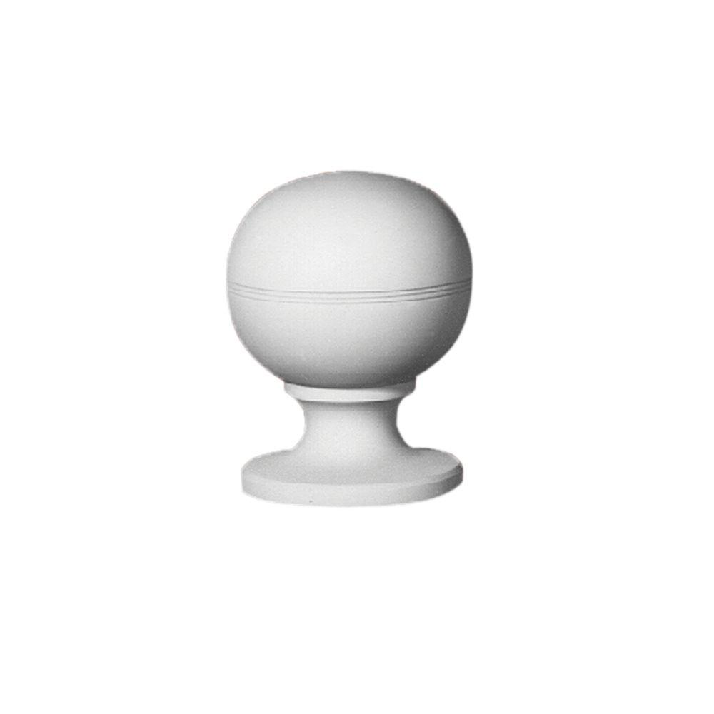 8 17/32-inch x 6 1/2-inch x 6 7/32-inch Primed Polyurethane Post Ball Top Finial