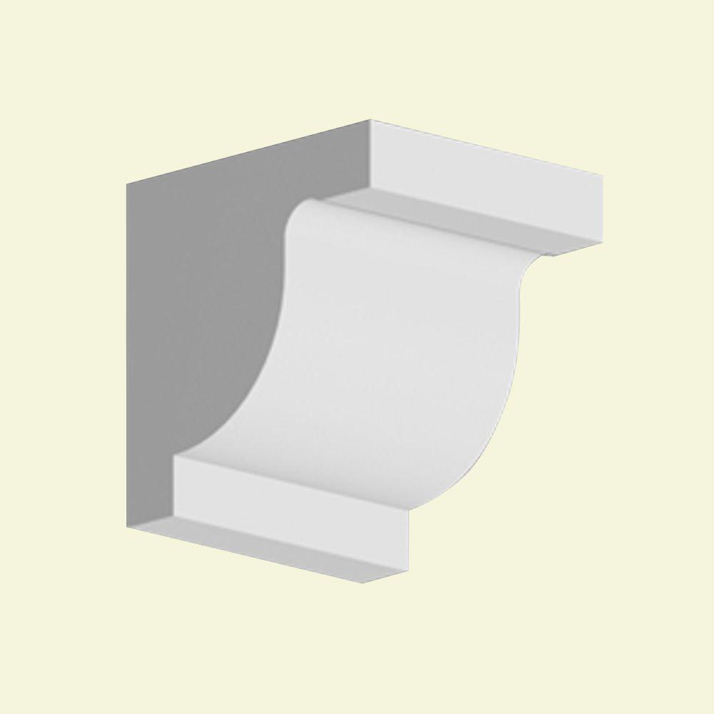 Console en polyuréthane apprêté 10 po x 10 po x 9-1/8 po