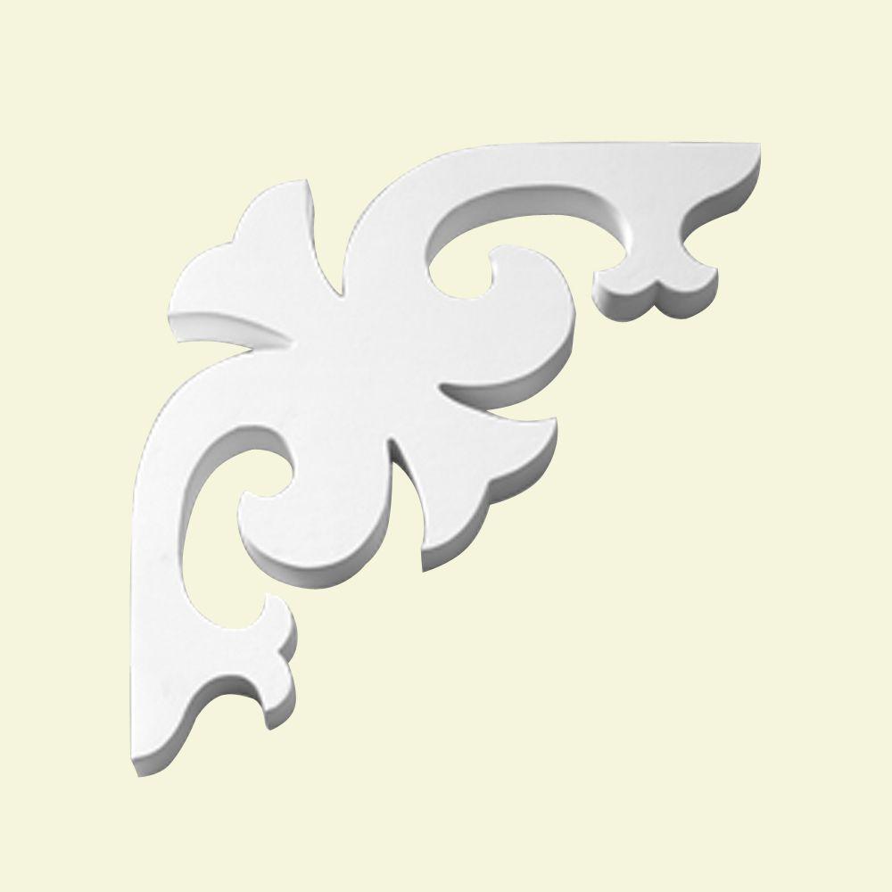 11-3/8 Inch x 11-3/8 Inch x 1 Inch Primed Polyurethane Bracket