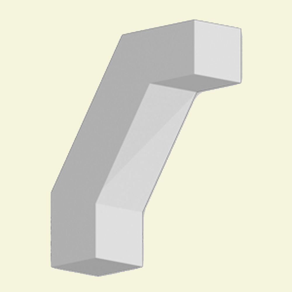 Console en polyuréthane apprêté 11-1/4 po x 12 po x 3-1/2 po