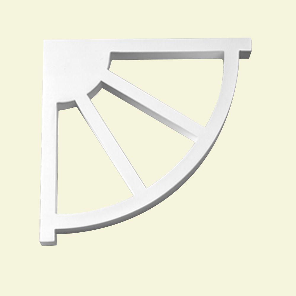 12-inch x 12-inch x 1-inch Primed Polyurethane Bracket Moulding