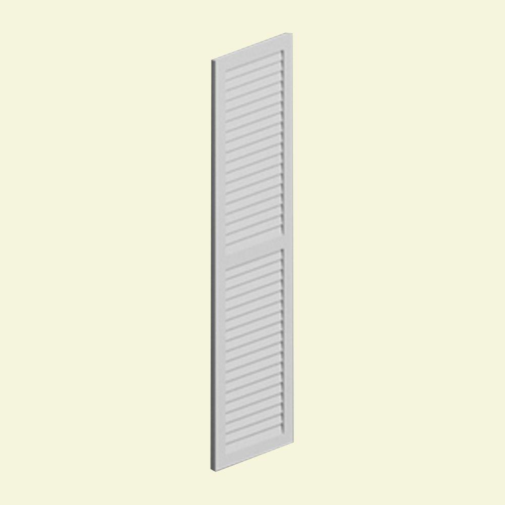 Évent de pignon décoratif vertical à persiennes en polyuréthane 16 po x 36 po x 2 po