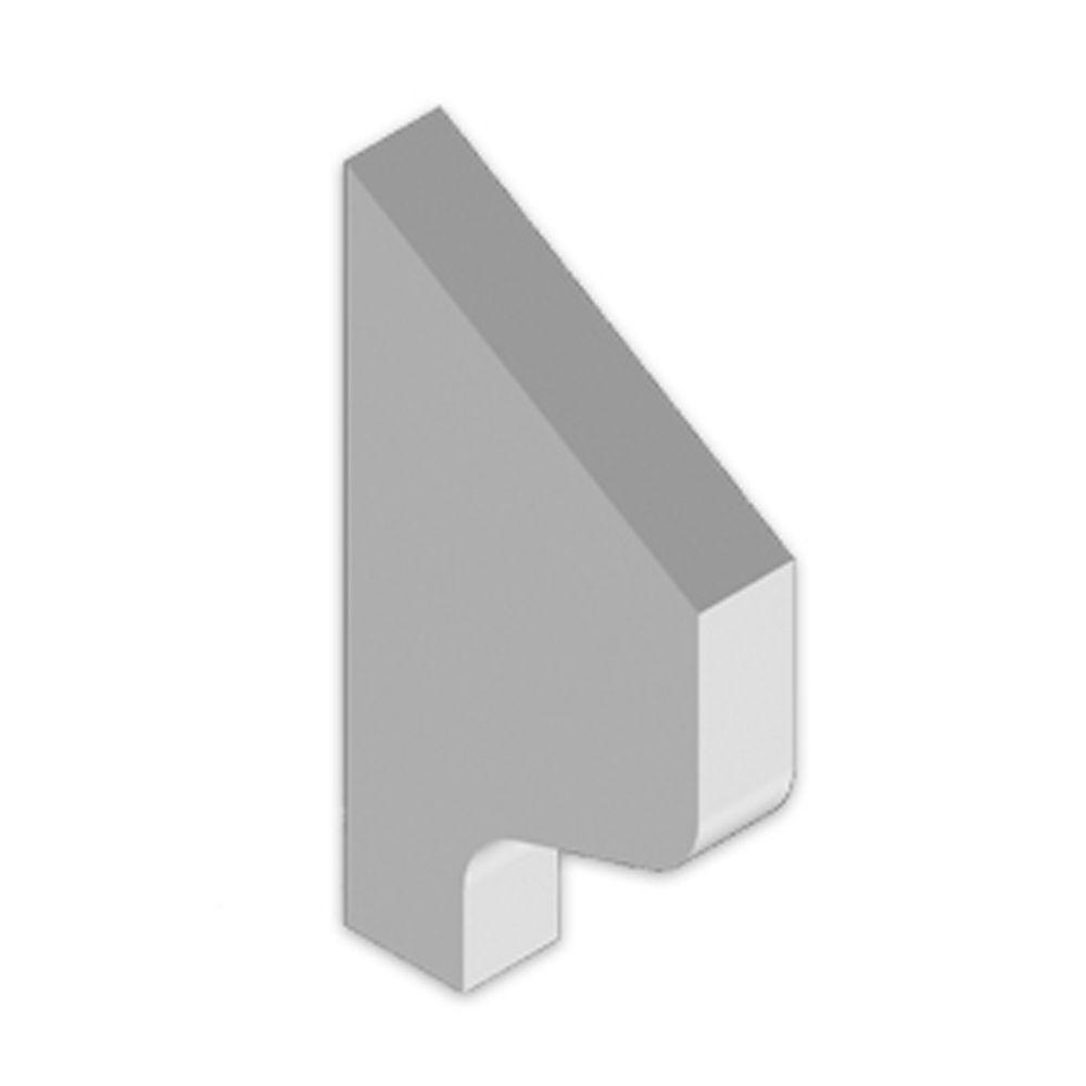 Console en polyuréthane apprêté 5-9/16 po x 10-3/8 po x 1-1/2 po
