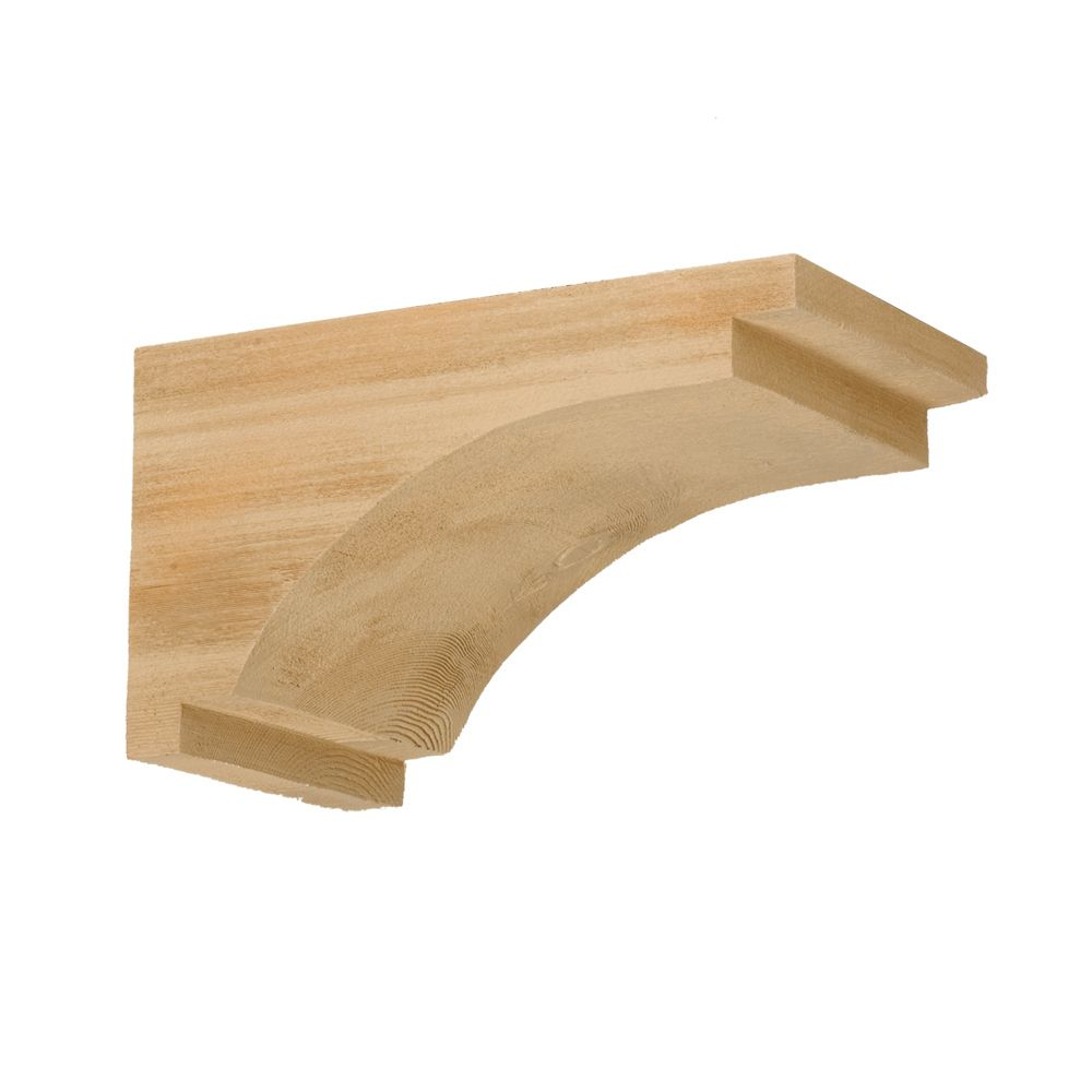 7-1/4 Inch x 13 Inch x 7-1/2 Inch Unfinished Wood Grain Texture Polyurethane Bracket