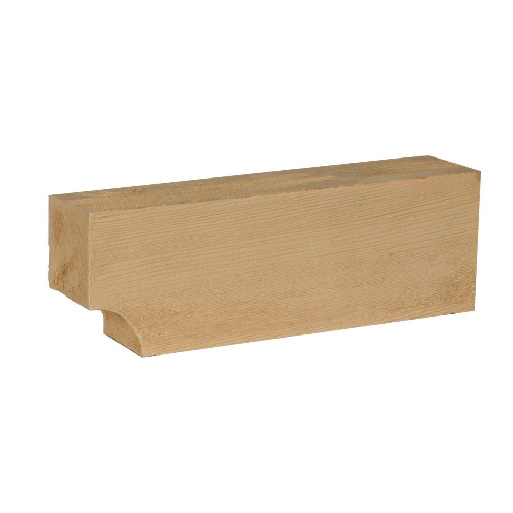 Corbeau en composite à texture de grain de bois non fini 16 po x 5-3/8 po x 3-3/8 po