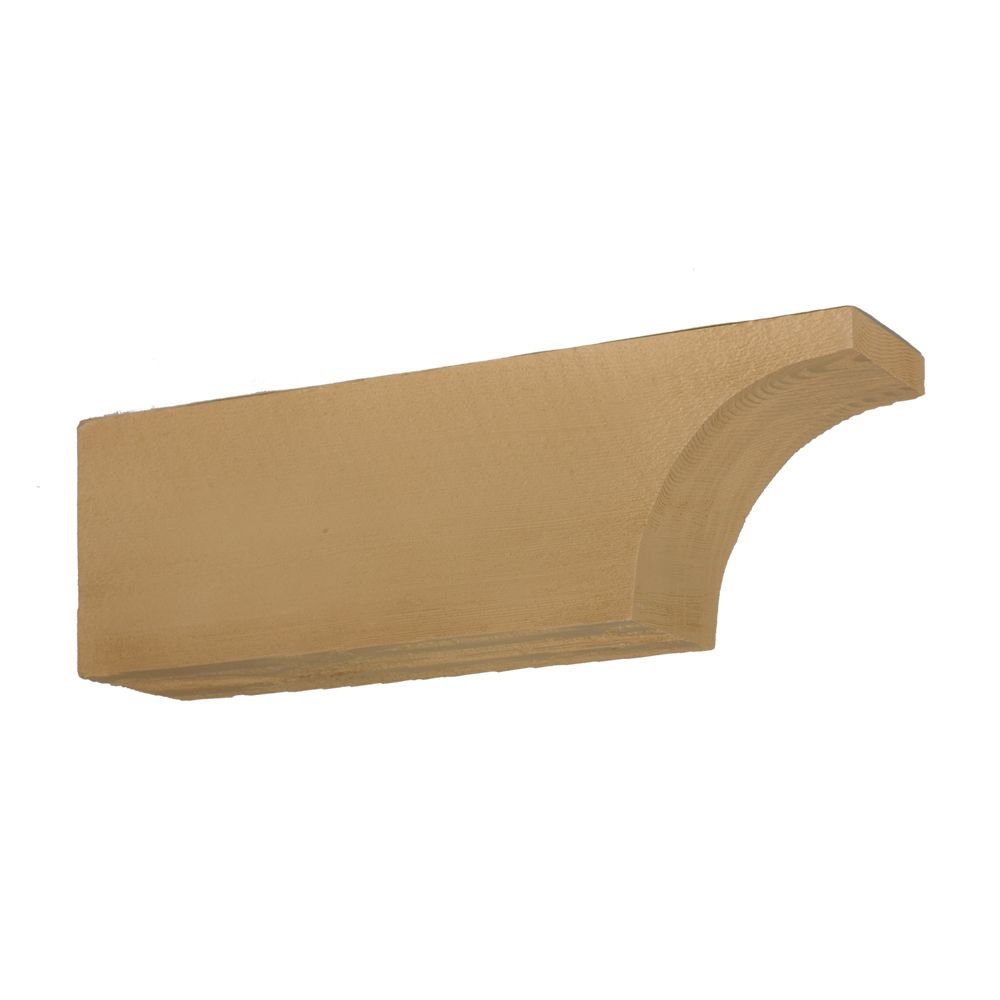 24 Inch x 7-1/2 Inch x 5-1/2 Inch Unfinished Wood Grain Texture Polyurethane Corbel
