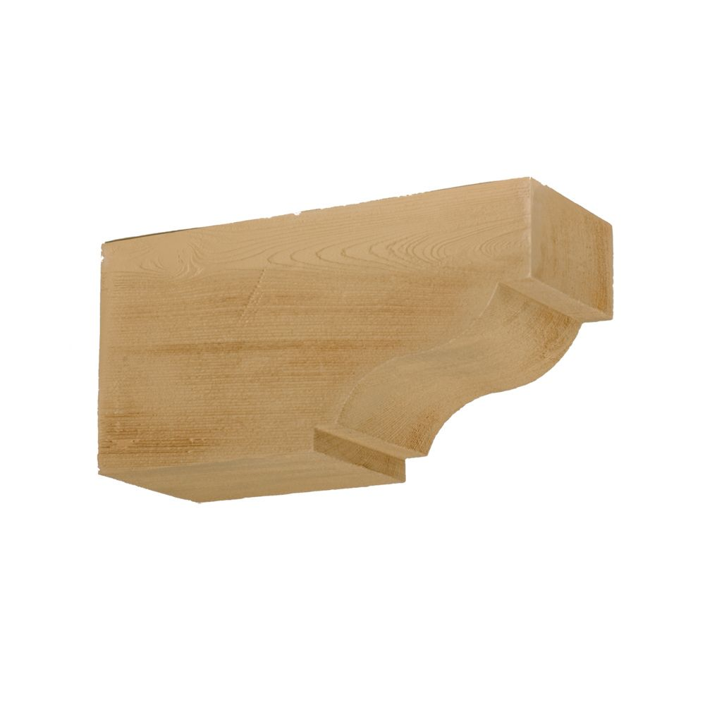 6 Inch x 7-1/4 Inch x 14-1/2 Inch Unfinished Wood Grain Texture Composite Corbel