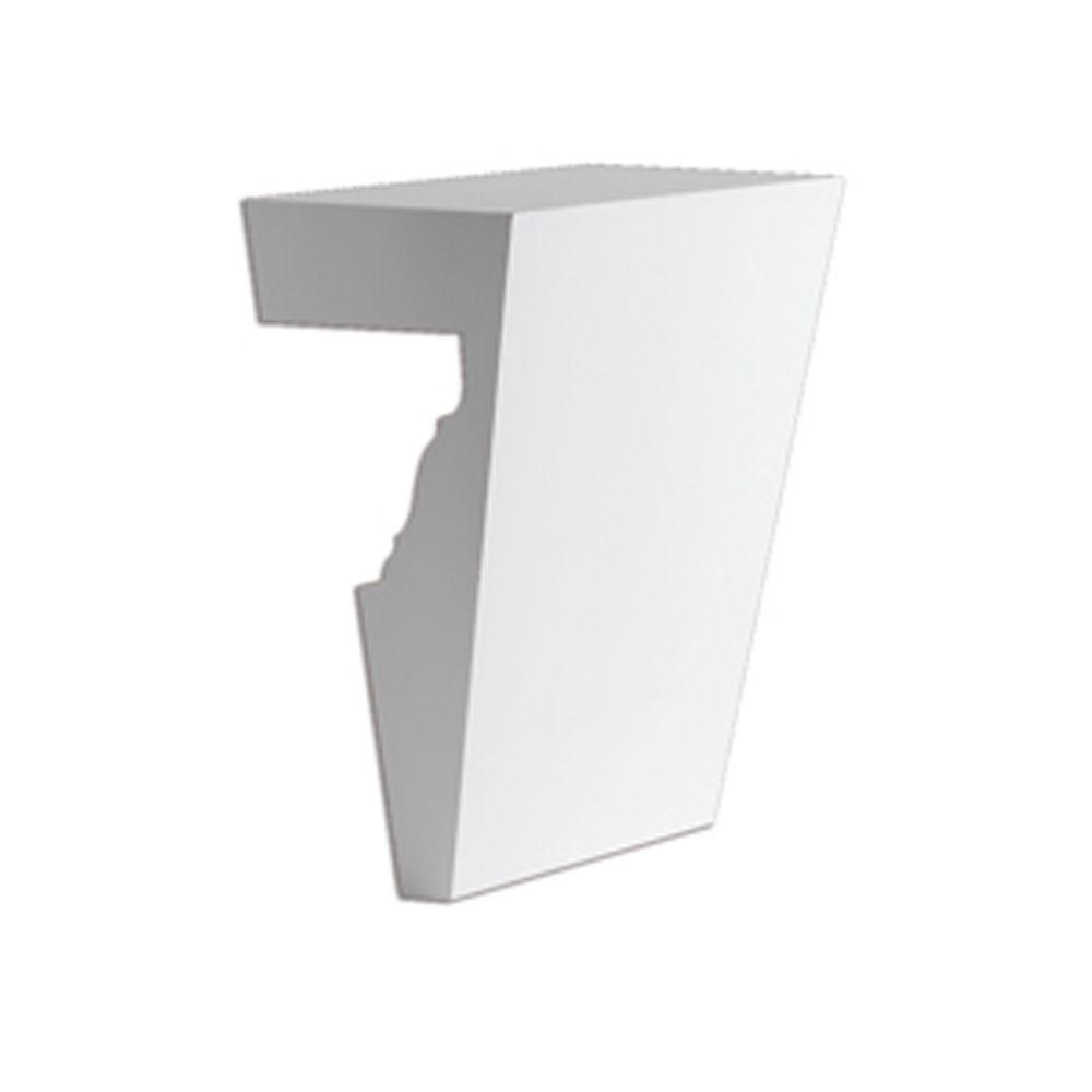 Clé de voûte en polyuréthane de 8 po x 11 po pour linteau de porte/fenêtre de 9 po et 10 po