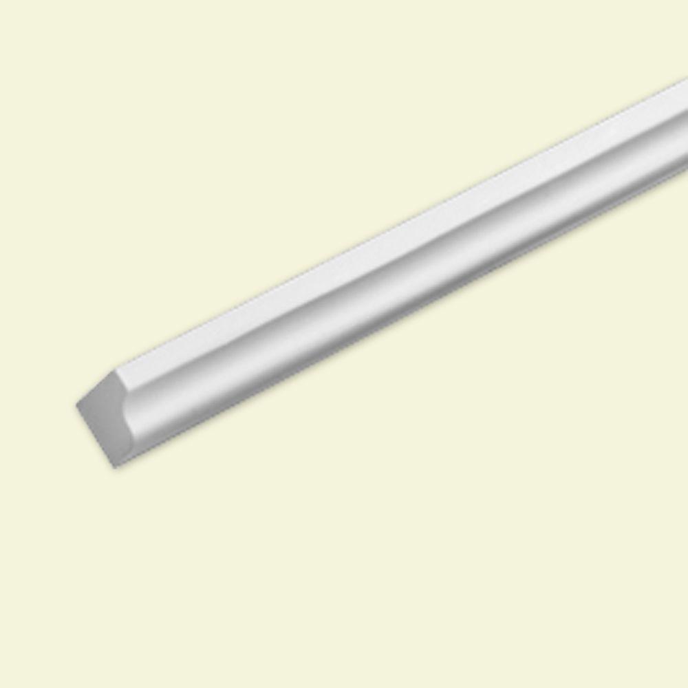 13/16 Inch x 13/16 Inch x 8 ft. Polyurethane Ogee Moulding Trim Strip for Crosshead