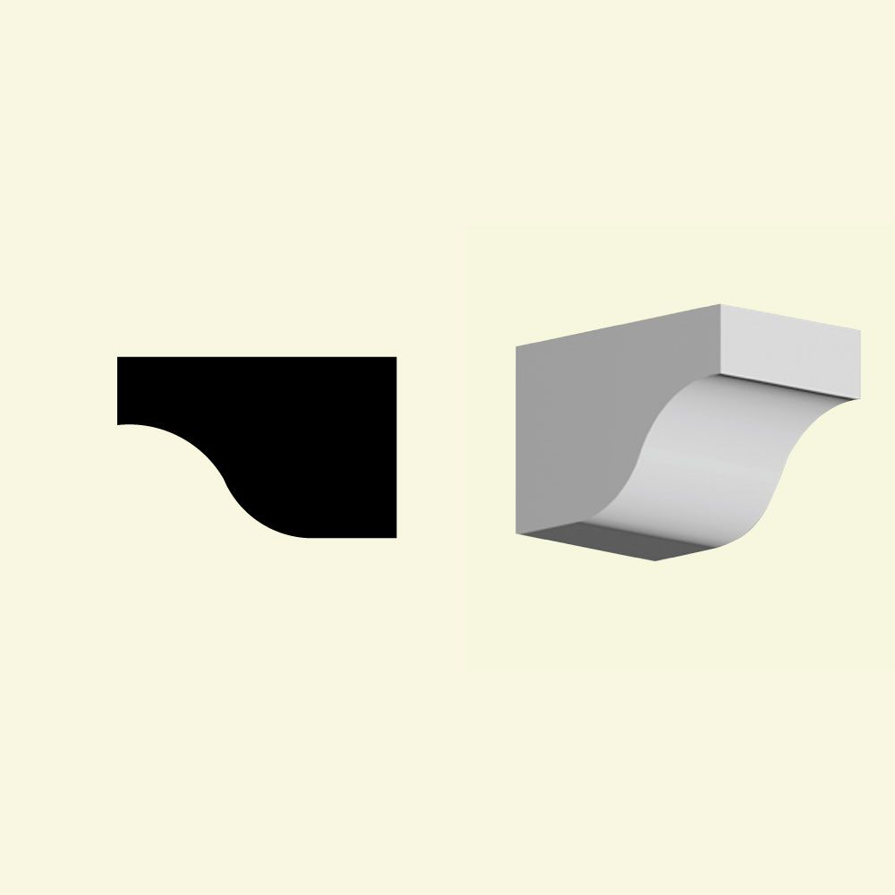 6-inch x 6-inch x 9 1/4-inch Primed Polyurethane Dentil Block