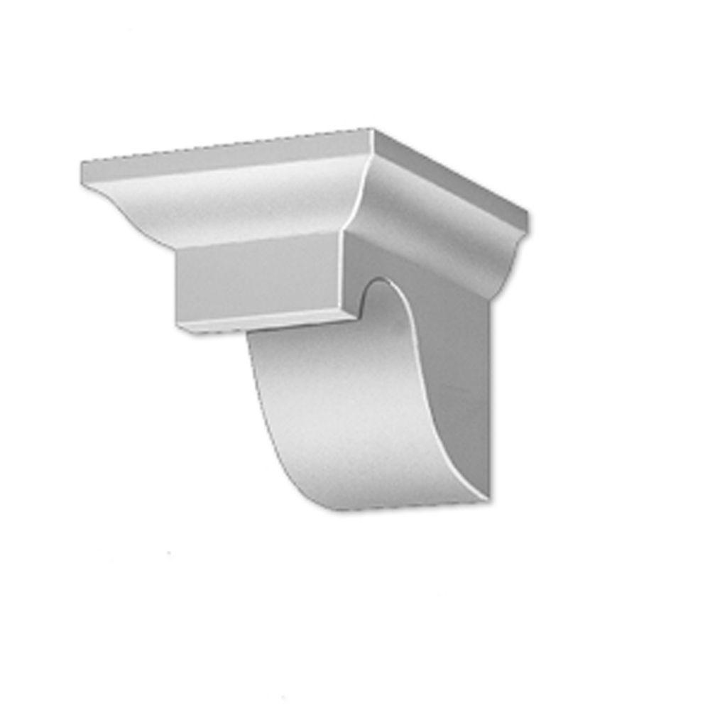 6-inch x 7 1/4-inch x 9 1/4-inch Primed Polyurethane Dentil Block