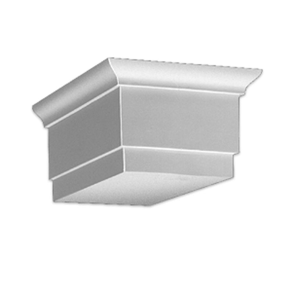 6-inch x 9 1/4-inch x 15-inch Primed Polyurethane Dentil Block
