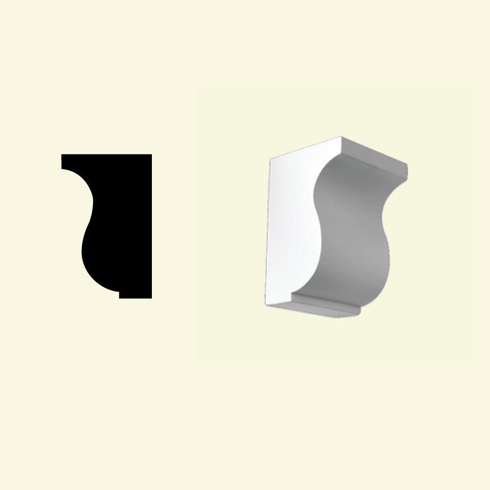 5-1/4 Inch x 5-1/2 Inch x 8-1/8 Inch Primed Polyurethane Dentil Block