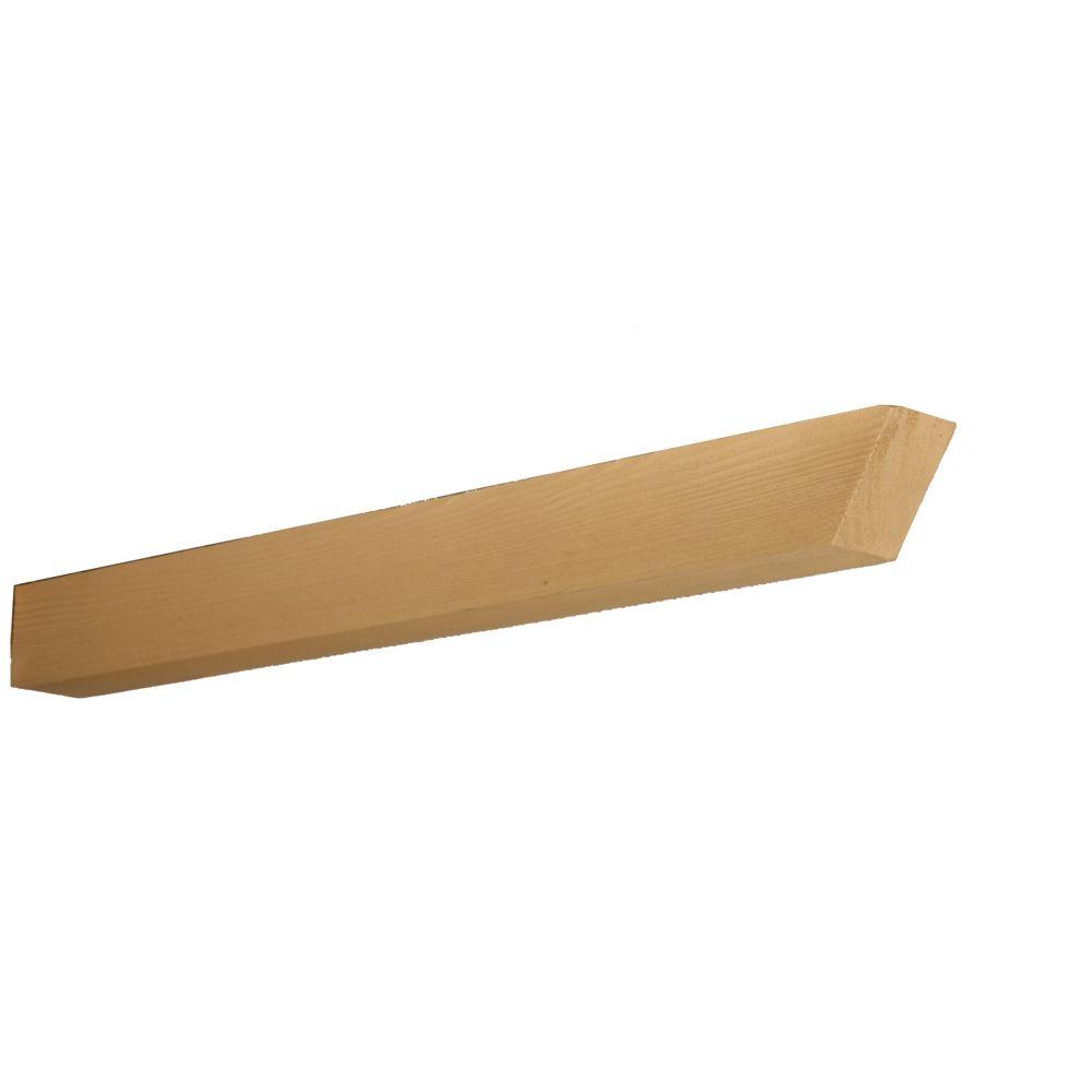 2 3/4-inch x 3 1/2-inch x 36-inch Unfinished Wood Grain Texture Polyurethane Trellis Lattice