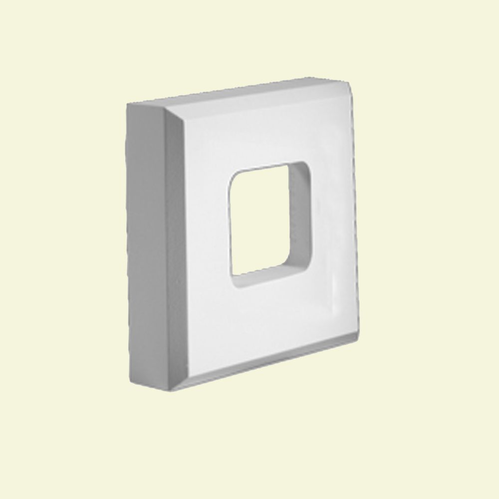 8-inch x 8-inch x 2-inch Primed Polyurethane Fixture Mount