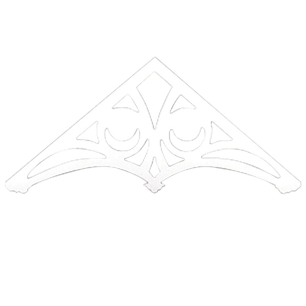48-inch x 26-inch x 1-inch Primed Polyurethane Gable Pediment Holland