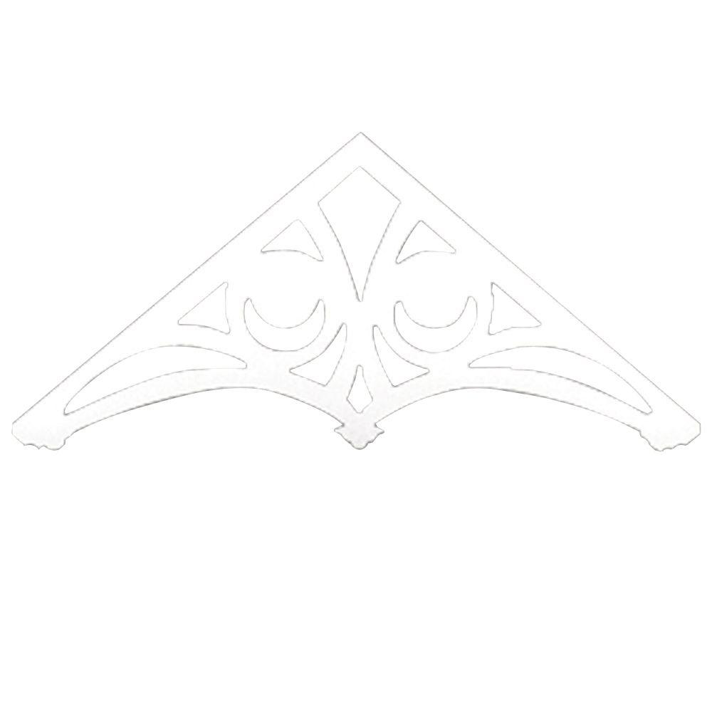 Fronton de pignon Hollande en polyuréthane apprêté 48 po x 26 po x 1 po