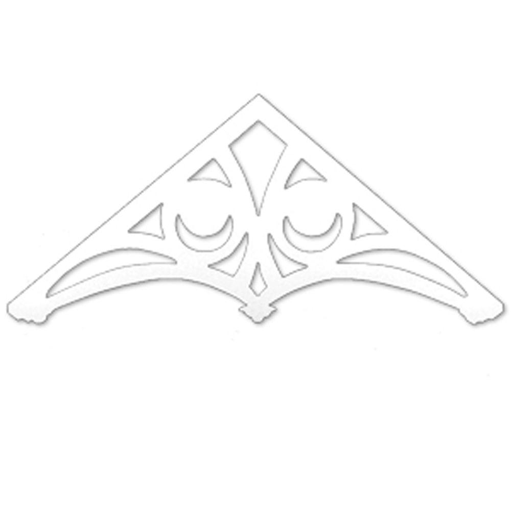 80 15/16-inch x 35 15/16-inch x 1-inch Primed Polyurethane Gable Pediment Holland