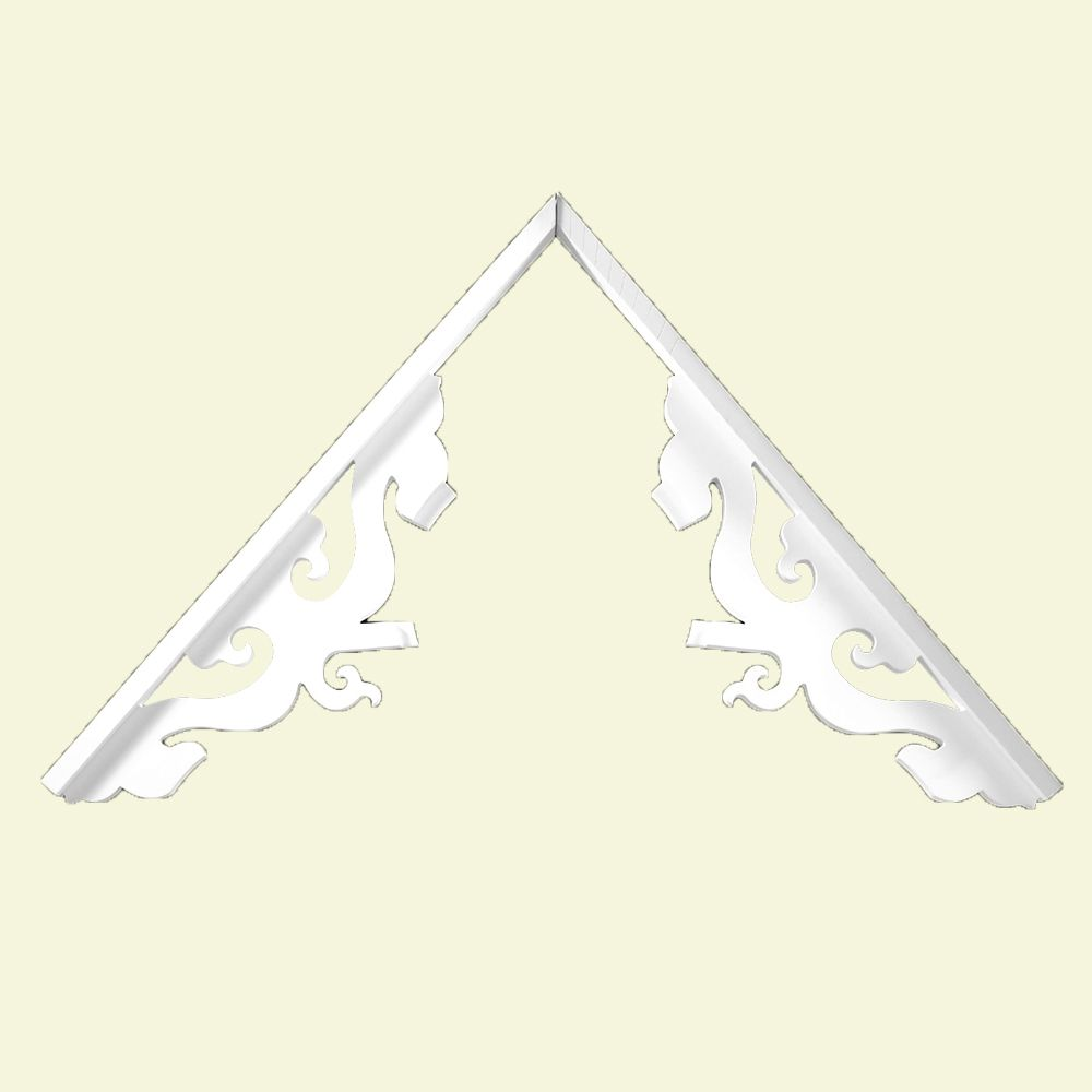 10 Inch x 39-15/16 Inch x 1-5/8 Inch Primed Polyurethane Gable Pediment Steward