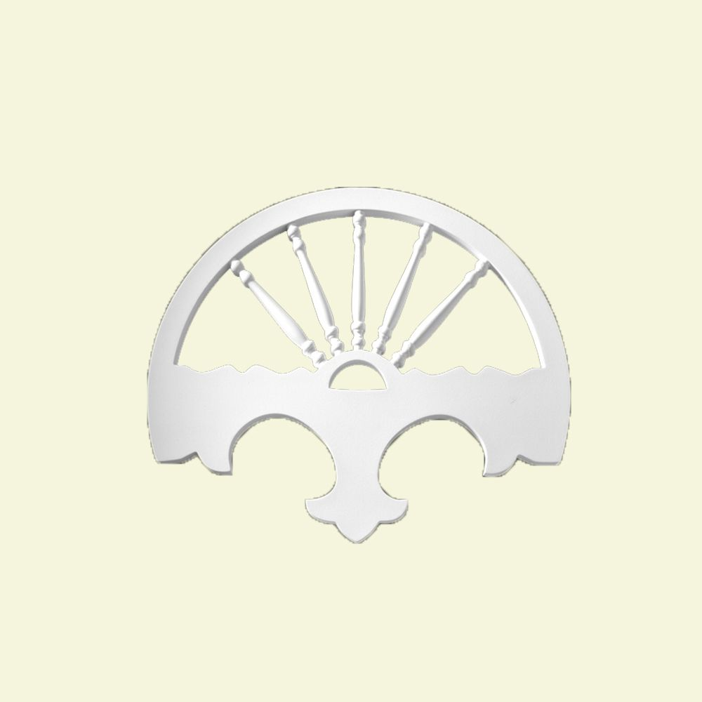 32 1/16-inch x 27 1/8-inch x 1-inch Primed Polyurethane Gable Pediment Wellington Center