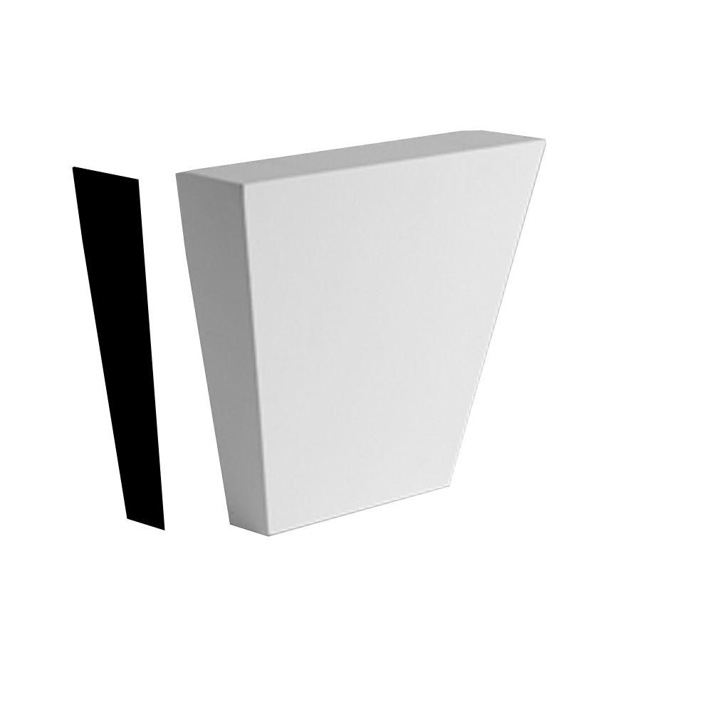 Clé de voûte unie texturée en polyuréthane apprêté 4-9/16 po x 6-7/16 po x 2-3/16 po