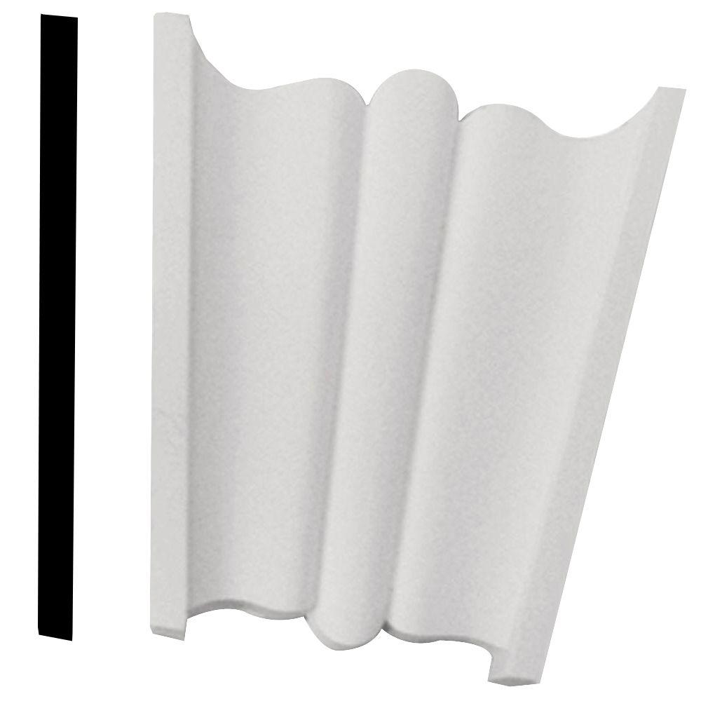 Clé de voûte unie texturée en polyuréthane apprêté 7 po x 7-1/2 po x 2-13/16 po