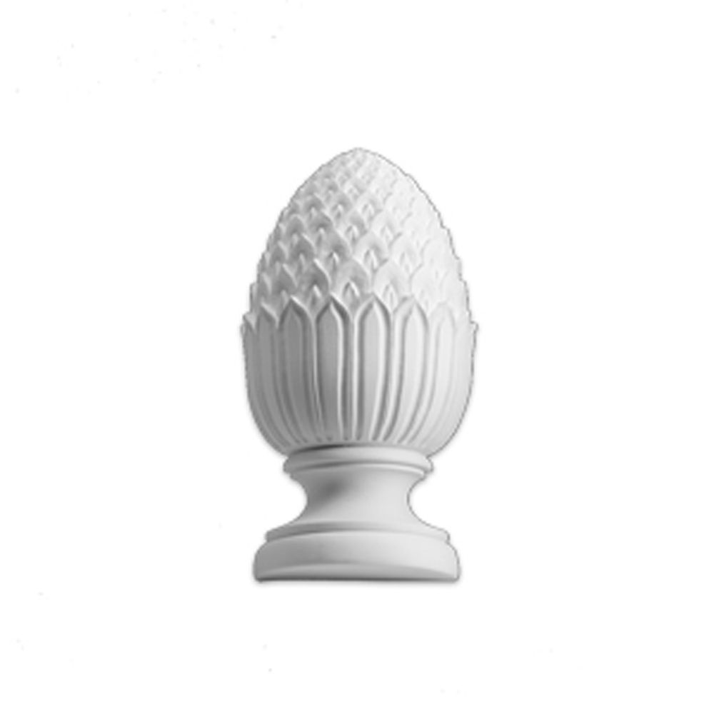 11 Inch x 4-3/4 Inch x 4-3/4 Inch Primed Polyurethane Post Full Round Pineapple Finial