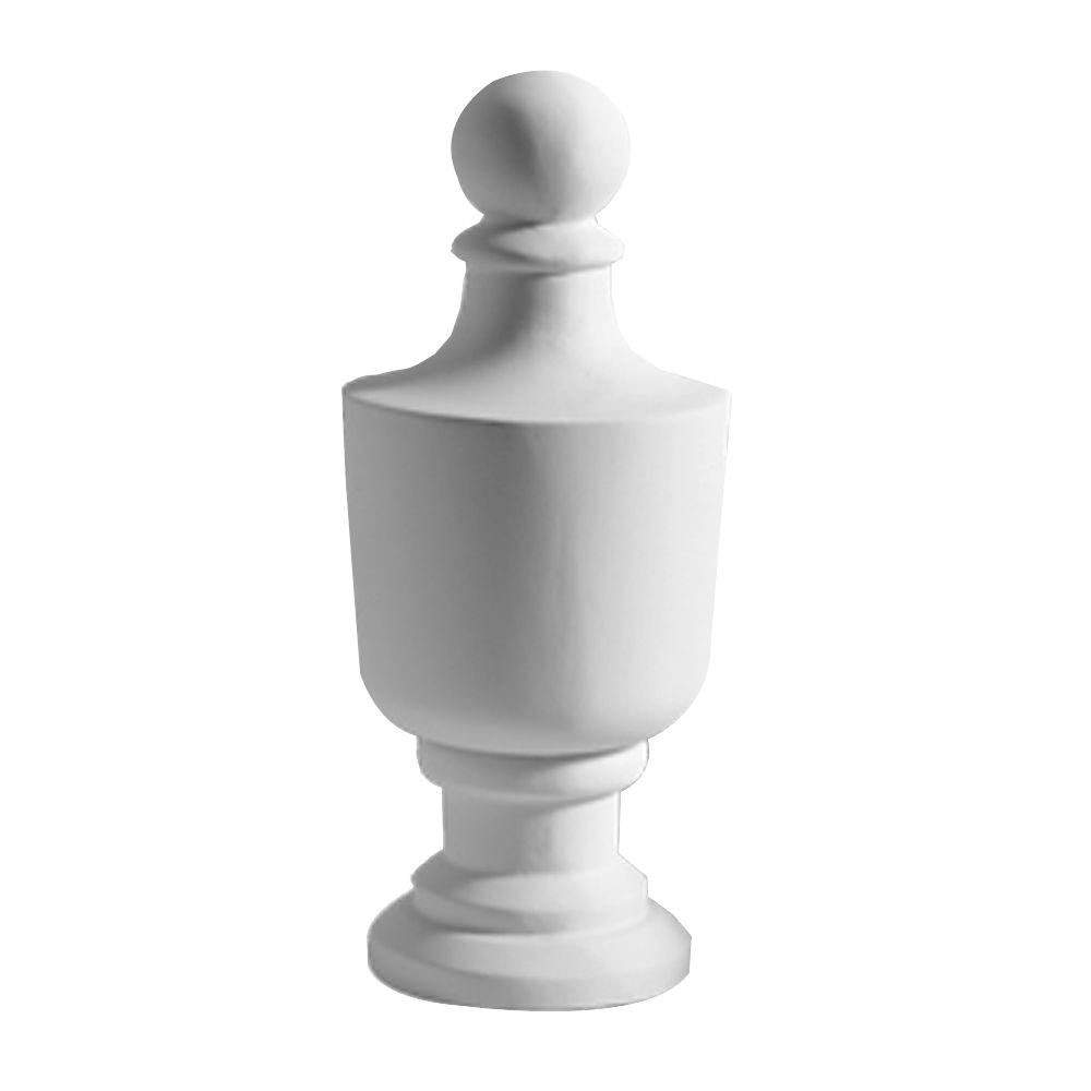 5 15/32-inch x 11 3/4-inch x 5 15/32-inch Primed Polyurethane Post Full Round Urn Finial