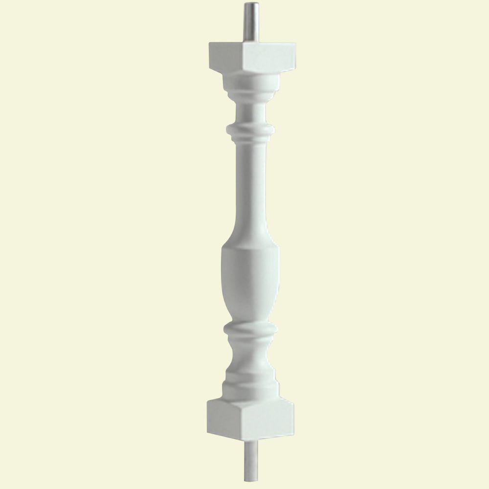 20-inch x 3-inch x 3-inch Polyurethane Logan Baluster for 5-inch Balustrade System
