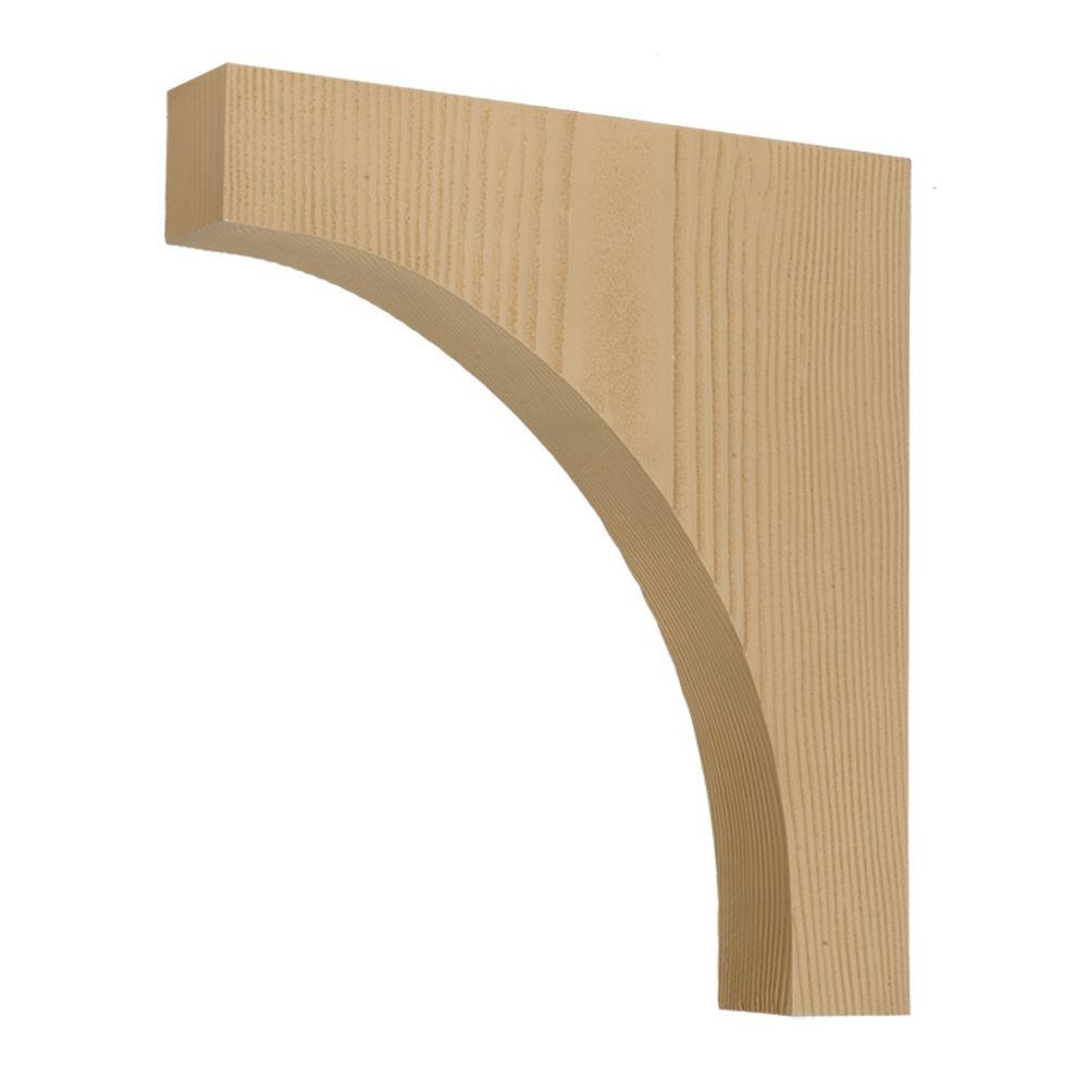 21 1/2-inch x 24-inch x 3 3/4-inch Unfinished Wood Grain Texture Polyurethane Bracket