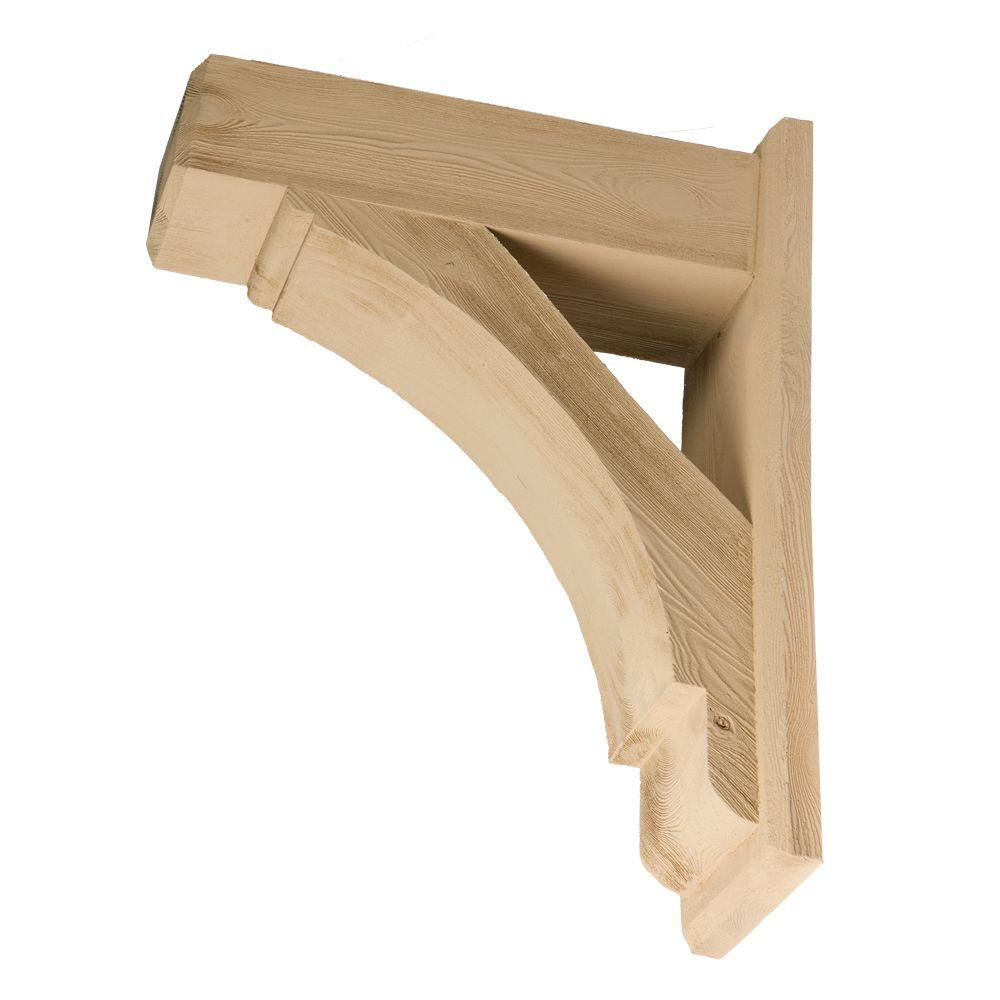 21 1/2-inch x 30-inch x 7 1/2-inch Unfinished Wood Grain Texture Polyurethane Bracket