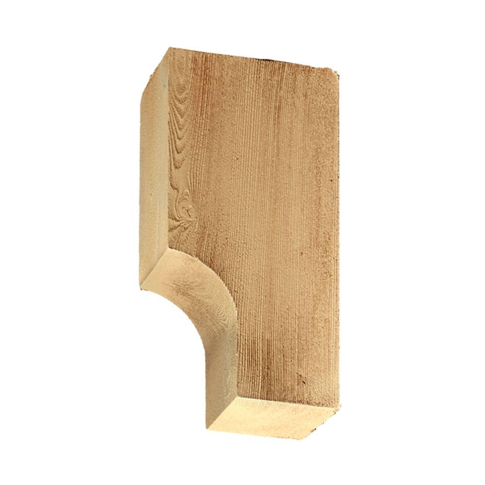 3-1/2 Inch x 10 Inch x 5-1/2 Inch Unfinished Wood Grain Texture Polyurethane Bracket