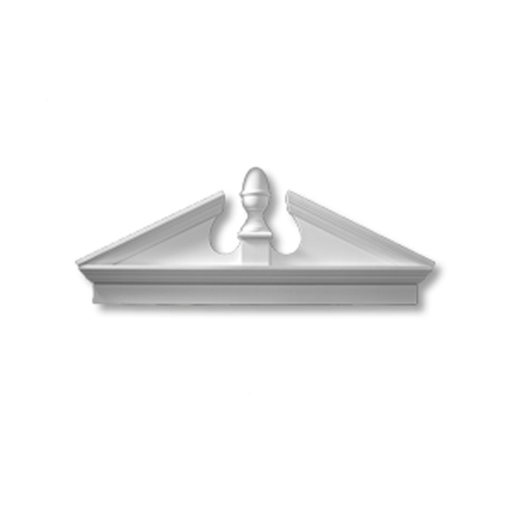 54 Inch x 21-1/8 Inch x 3-1/8 Inch Polyurethane Combination Acorn Pediment CAP54 in Canada