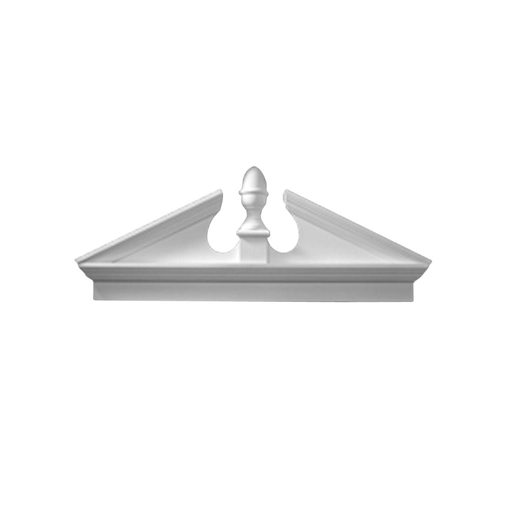 58 Inch x 21-3/4 Inch x 3-1/8 Inch Smooth Combo Acorn Pediment