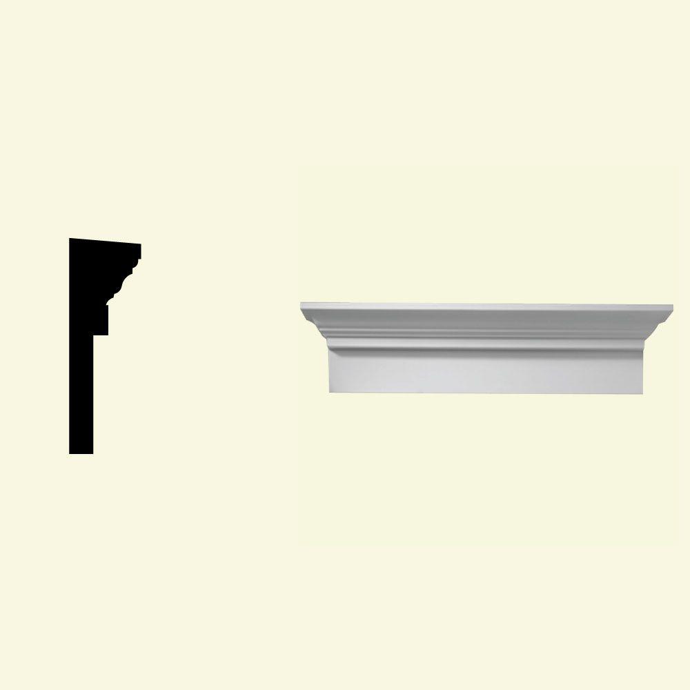 Linteau pour porte/fenêtre en polyuréthane apprêté 34 po x 6 po x 3 po