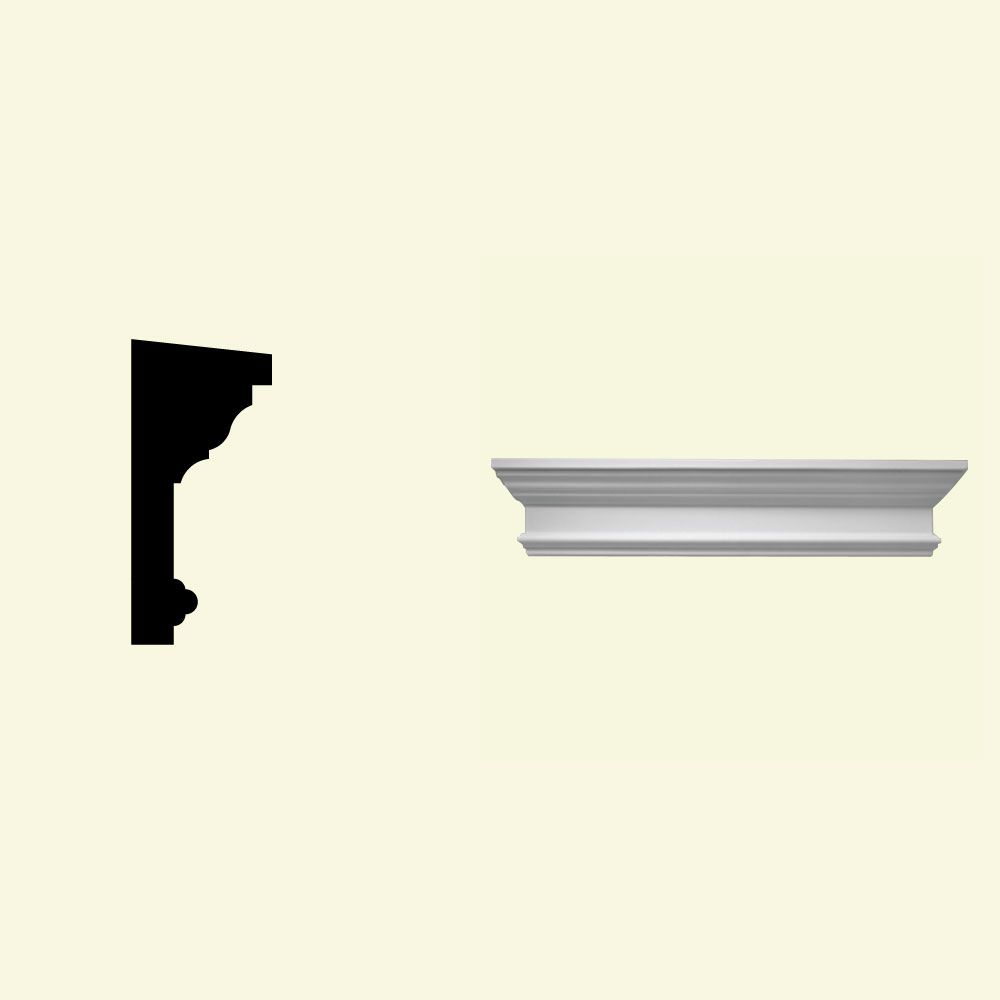 34 Inch x 11 Inch x 6 Inch Primed Polyurethane Crosshead with Trim Strip for Window and Door
