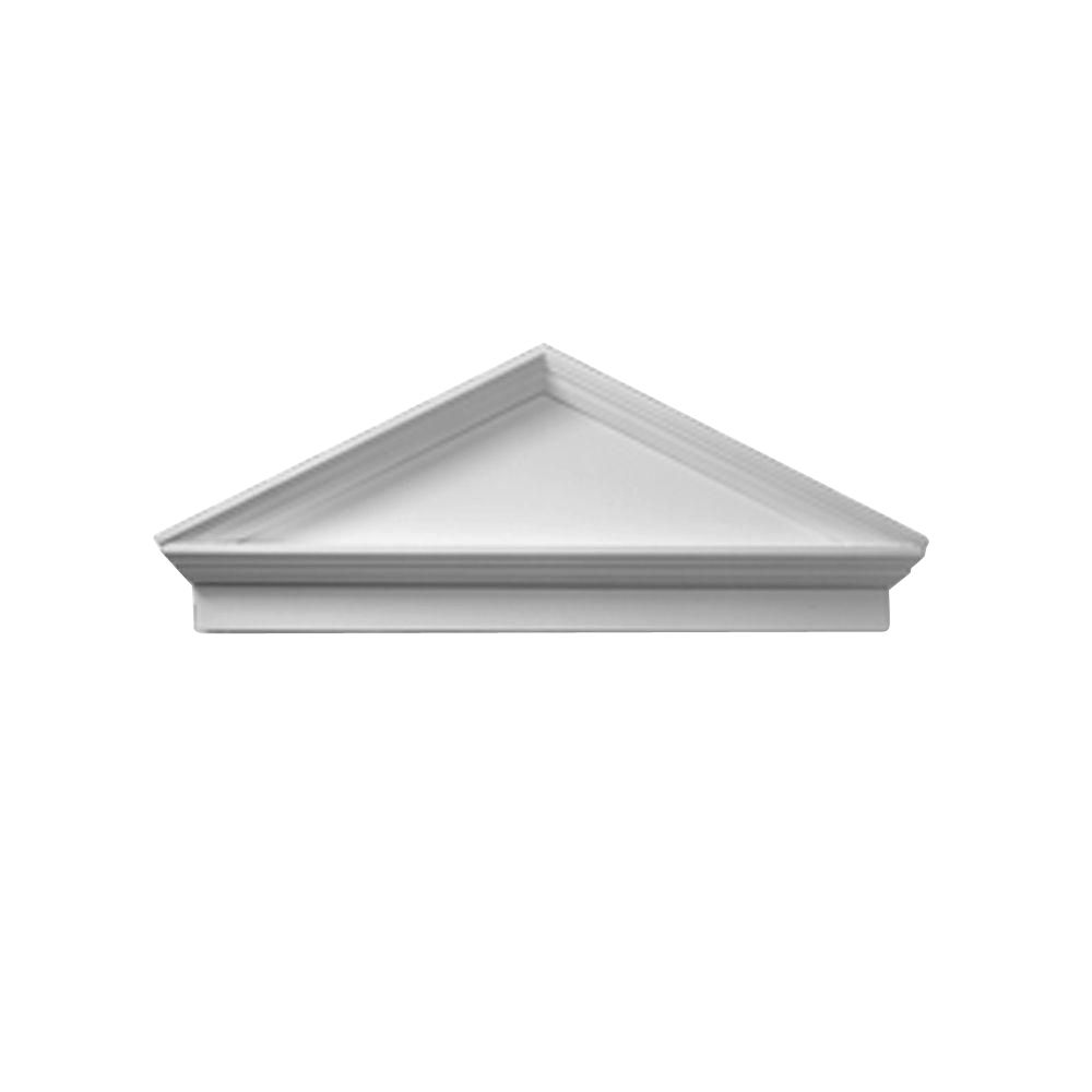 47-1/2 Inch x 19-1/2 Inch x 3-1/8 Inch Smooth Combo Peaked Cap Pediment