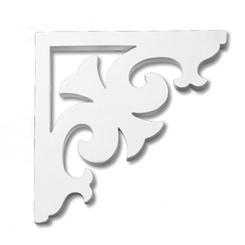 12 7/8-inch x 12 7/8-inch x 1-inch Primed Polyurethane Bracket Moulding