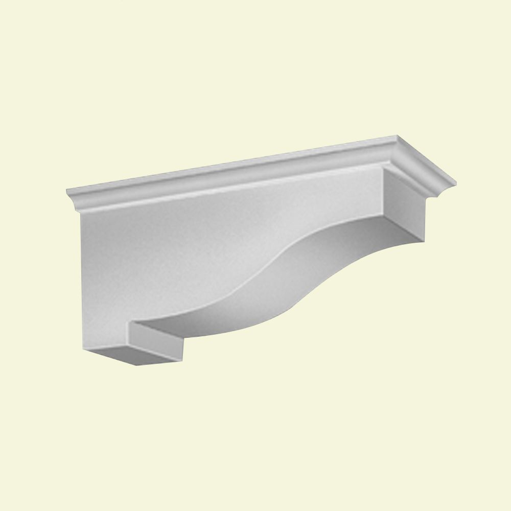 13 1/4-inch x 5 13/16-inch x 5 7/8-inch Primed Polyurethane Bracket