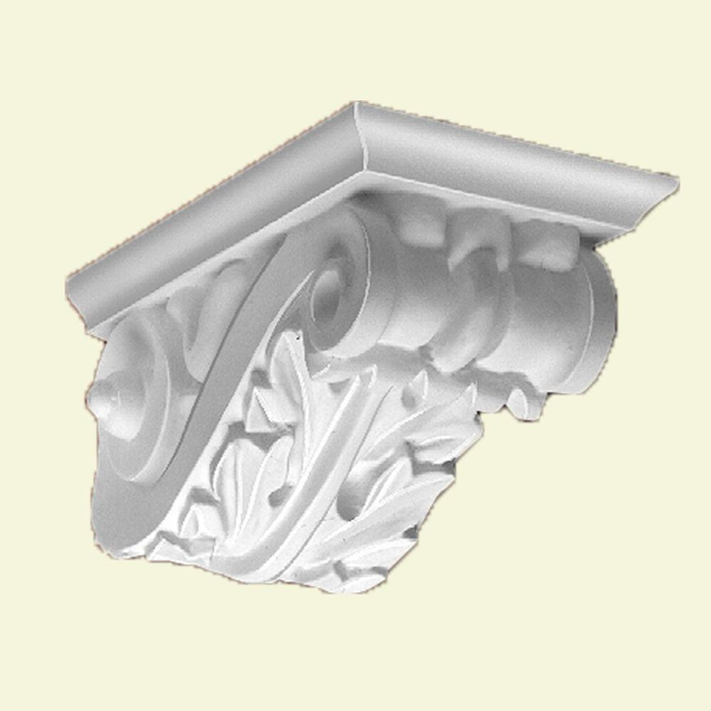 6 5/16-inch x 13 7/32-inch x 6 3/8-inch Primed Polyurethane Bracket Moulding