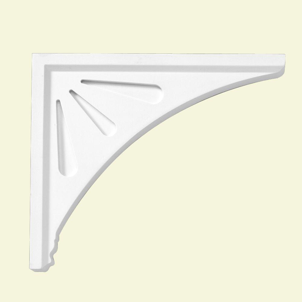 14-inch x 12-inch x 1 1/2-inch Primed Polyurethane Bracket Moulding