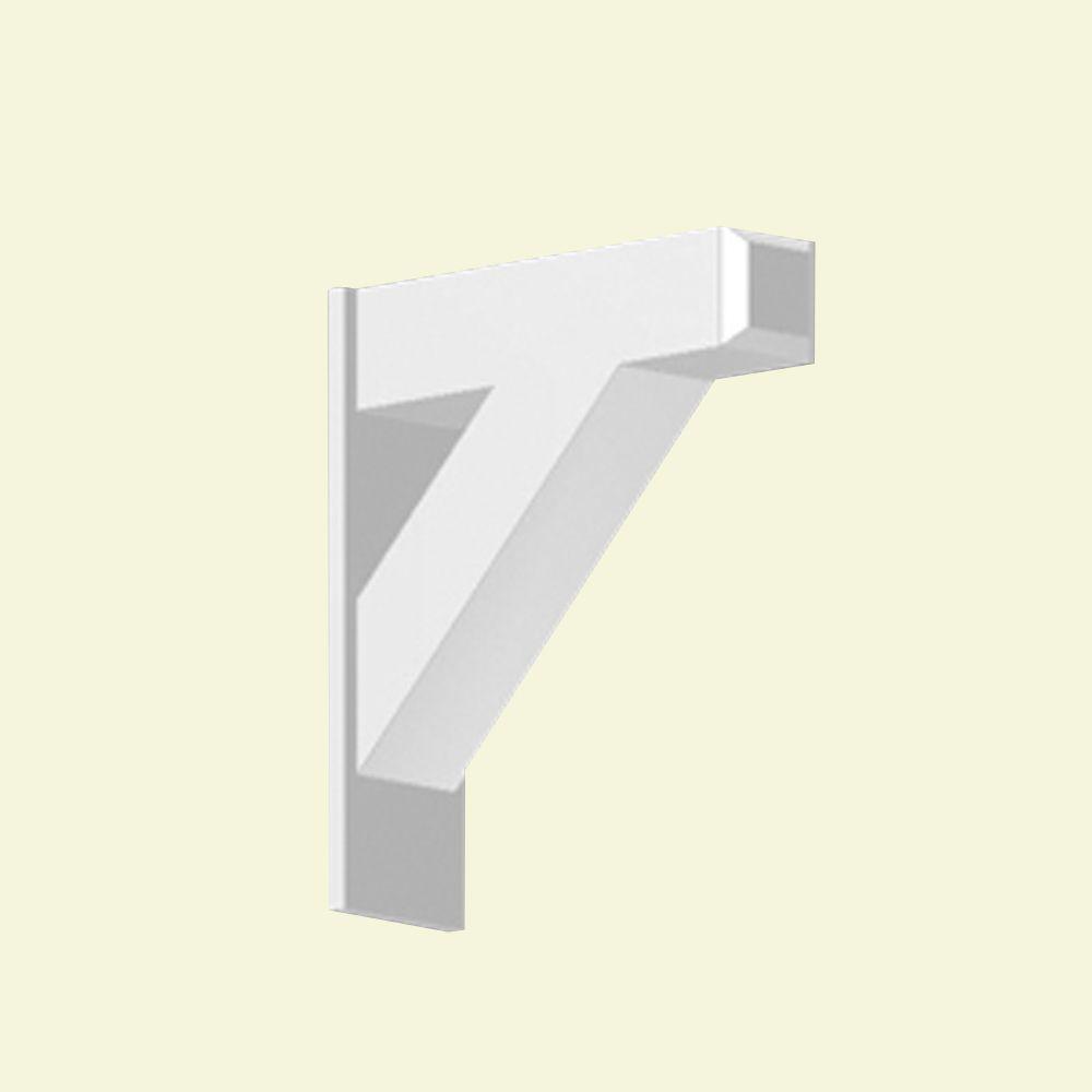 Console en polyuréthane apprêté 14 po x 4-7/16 po x 16 po