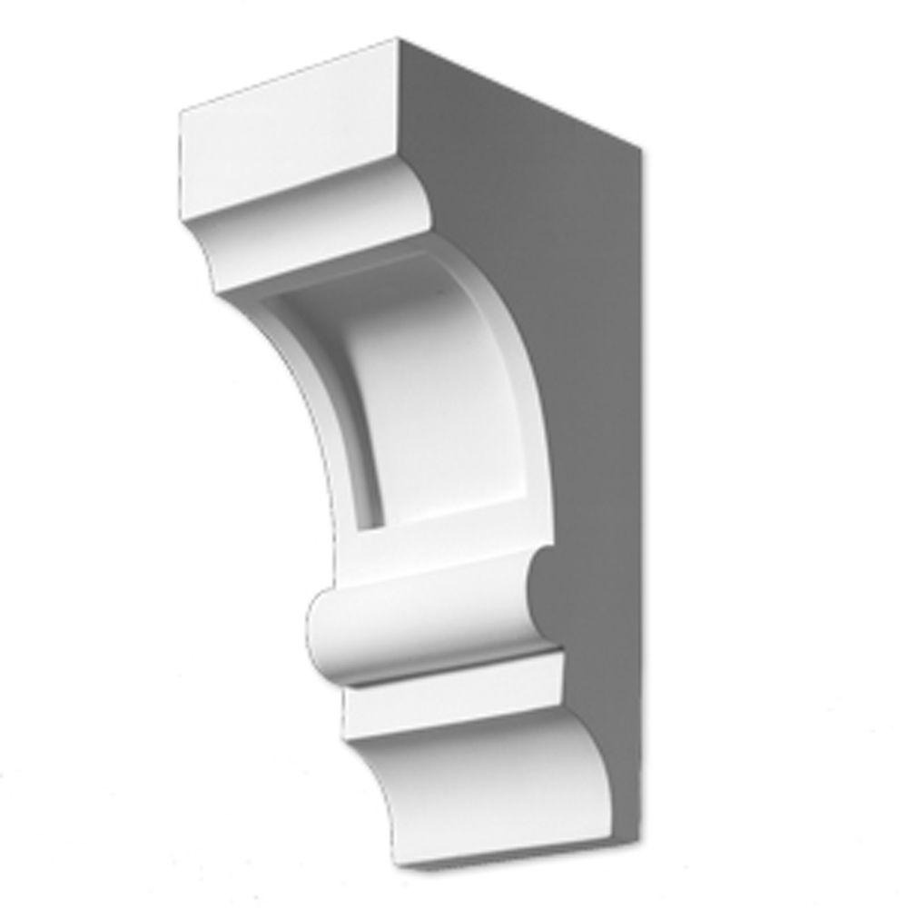 Fypon 5-1/4 Inch x 4 Inch x 10 Inch Smooth Primed Polyurethane Corbel