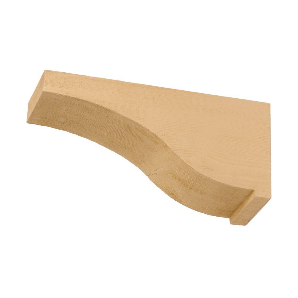 Corbeau en polyuréthane à texture de grain de bois non fini 7 po x 15 po x 4 po