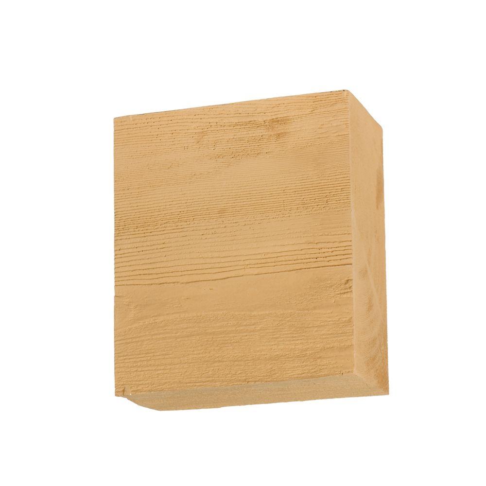 Corbeau en polyuréthane à texture de grain de bois non fini 8 po x 9 po x 4 po