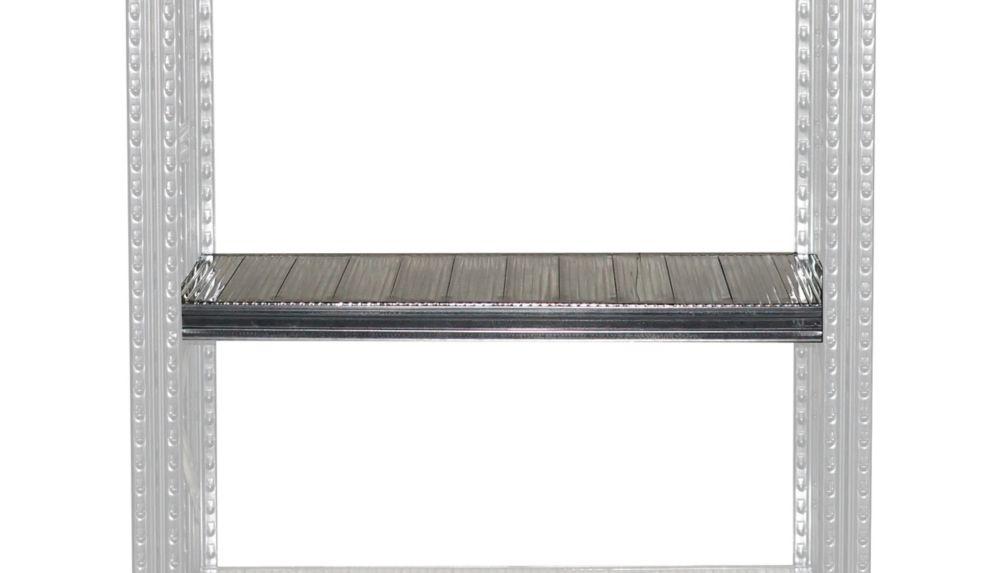 Étagère complète Metalsistem 36 po largeur, 13 po profondeur, brides de sécurité comprises.
