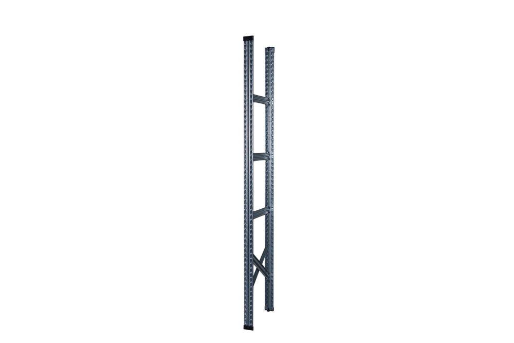 Étagère complète Metalsistem 78 po hauteur, 16 po profondeur, couvercles en plastique et base com...